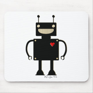 Happy Square Robot 1 Mouse Mat