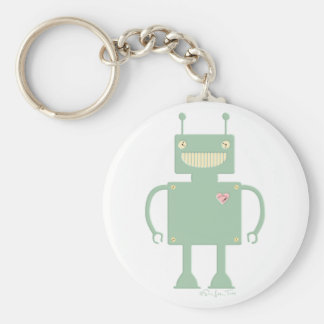 Happy Square Robot 2 Key Ring