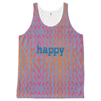Happy Squiggle All-Over Print Tank Top