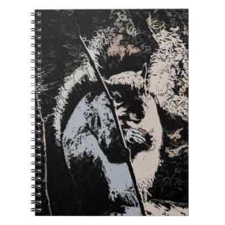 Happy Squirrel in Ink Photo Notebook
