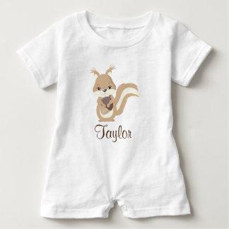 Happy Squirrel Personalize Baby Bodysuit