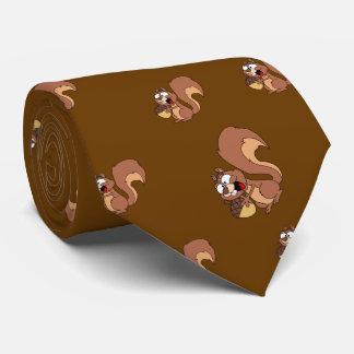 Happy Squirrel with Acorn Tie