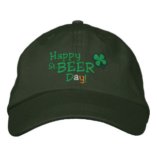 Happy St Beer Day Embroidered Hats