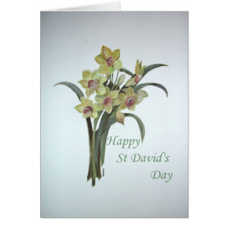 Happy St David s Day Greeting Card