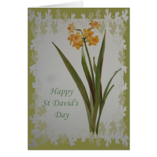 Happy St David's Day Jonquils Greeting Card