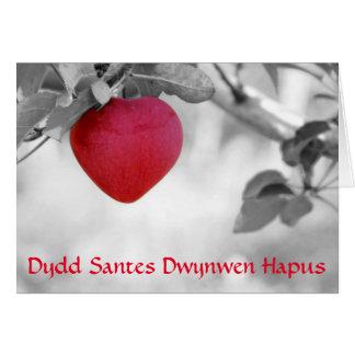 Happy St Dwynwen's Day (apple) Card