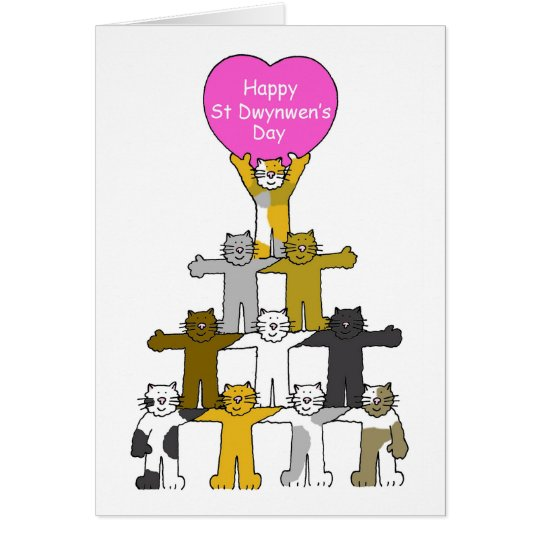 Happy St Dwynwen's Day. Card