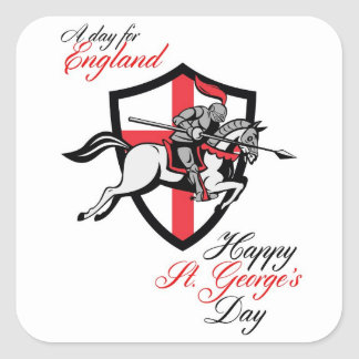 Happy St George Day A Day For England Retro Poster Stickers