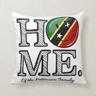 Happy St. Kitts Flag House Warmer Cushion
