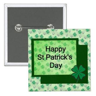 Happy St. Patrick's Day 15 Cm Square Badge