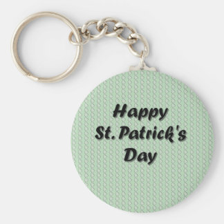 Happy St. Patrick's Day Basic Round Button Key Ring
