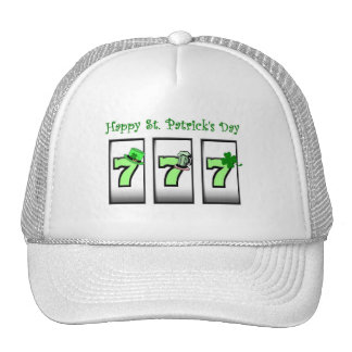 Happy St Patrick s Day 777 GREEN Cap Trucker Hat