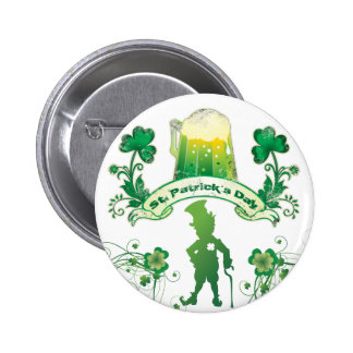 Happy St Patrick s Day Pinback Buttons