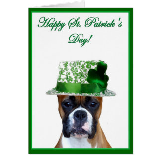 Happy St Patrick s Day Boxer greeting card