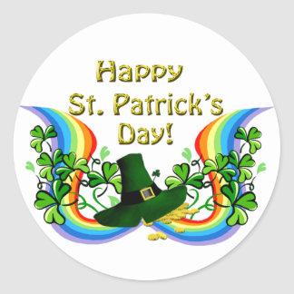 Happy St Patrick s Day Gift Round Stickers