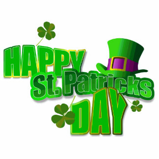 Happy St Patrick s Day Key Chain Photo Cut Outs