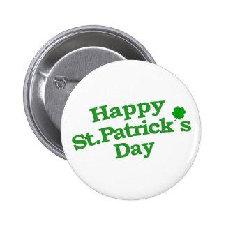 Happy St. Patrick´s Day Typographic Design 6 Cm Round Badge