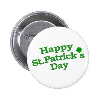 Happy St. Patrick´s Day Typographic Design Pinback Buttons