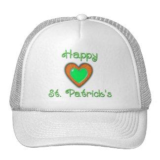 HAPPY ST PATRICK S HEART by SHARON SHARPE Mesh Hat