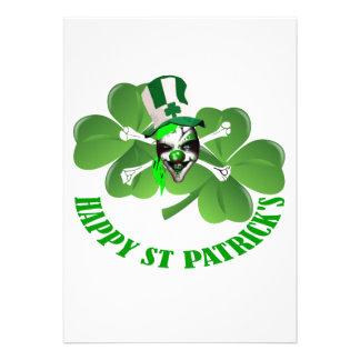 Happy St Patrick s scary clown Custom Announcement