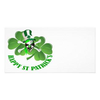 Happy St Patrick s scary clown Custom Photo Card