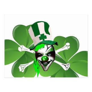 Happy St Patrick s scary clown Postcards