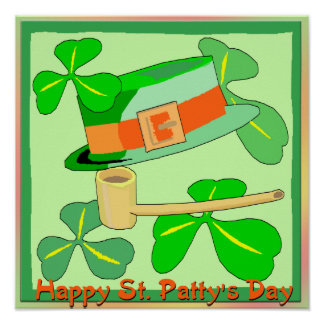 Happy St Patrick's Collage Day Poster