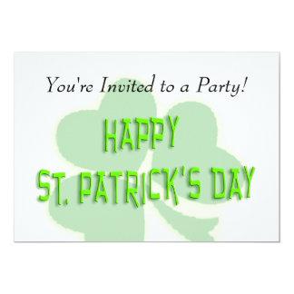 Happy St. Patrick's Day 13 Cm X 18 Cm Invitation Card
