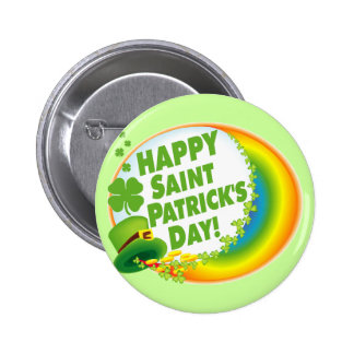 Happy St. Patrick's Day! 6 Cm Round Badge