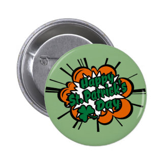 Happy St. Patrick's Day 6 Cm Round Badge