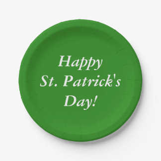 Happy St. Patrick's Day! 7 Inch Paper Plate