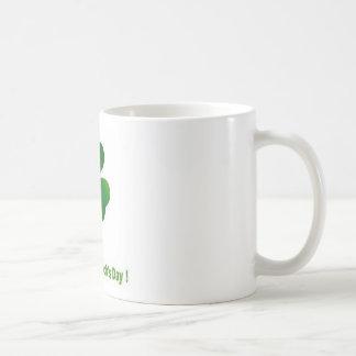 Happy st patricks day basic white mug