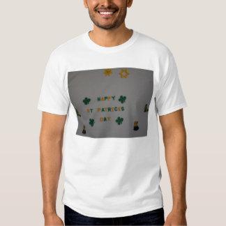 Happy St. Patrick's Day, Bead Art T-shirt