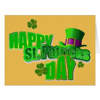 Happy St. Patrick's Day Big Greeting Card