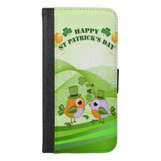 Happy St Patricks Day birds iPhone 6/6s Plus Wallet Case