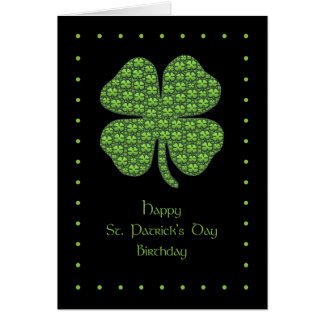 Happy St. Patrick's Day Birthday Card