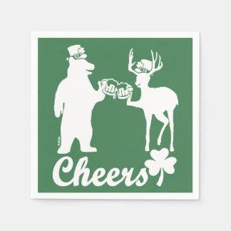 Happy St Patricks Day Cheers! Disposable Napkin