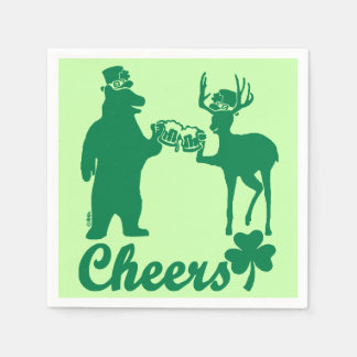 Happy St Patricks Day Cheers! Paper Napkin