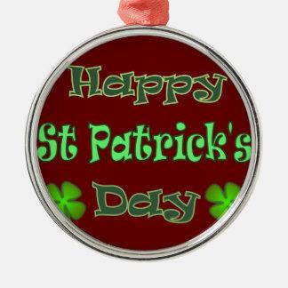 Happy St Patricks Day Christmas Ornament