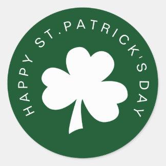 Happy St. Patrick's Day Classic Round Sticker