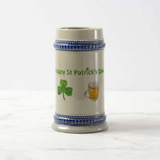 Happy St. Patrick's Day! Clover and Beer Beer Stein