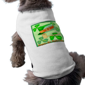 Happy St Patrick's Day Collage Dog Tee Shirt