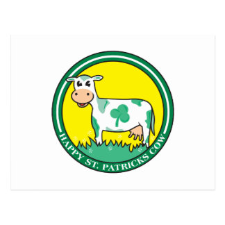 Happy St. Patrick's Day Cow Postcards