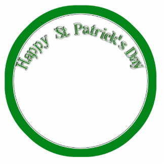 Happy St. Patricks Day Curved Text Image Acrylic Cut Outs