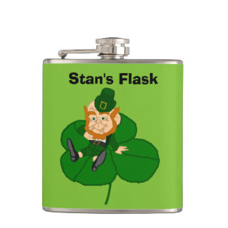 Happy St. Patrick's Day Custom Flasks