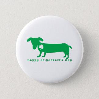 Happy St. Patrick's Day Dachshund 6 Cm Round Badge