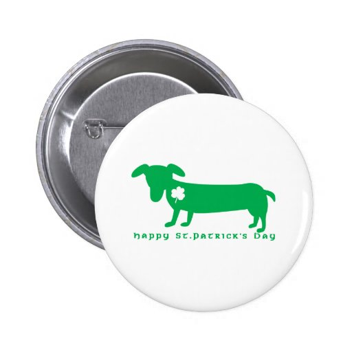 Happy St. Patrick's Day Dachshund Pins