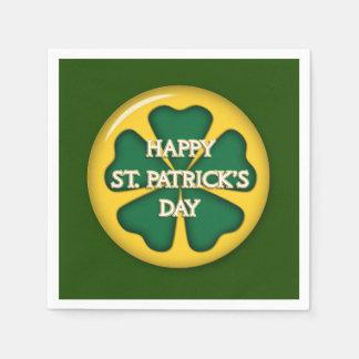 Happy St. Patrick's Day Disposable Serviette