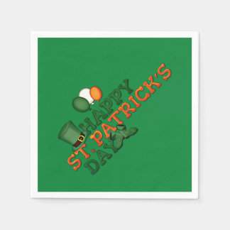 Happy St Patricks Day Embellished Disposable Napkin