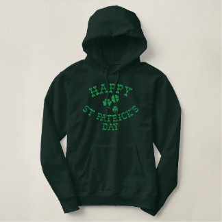 HAPPY ST. PATRICK'S DAY Embroidered Hoodie